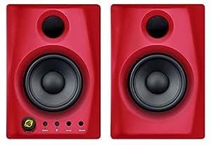 Monkeybanana Gibbon Air Studio Monitor Bluetooth Speakers (Red/Black)