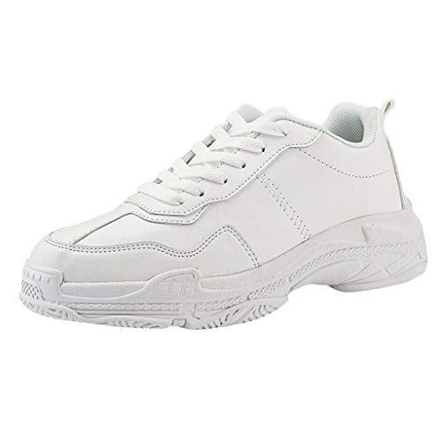 CUTUDE Schuhe Herren Damen Sneaker Unisex Turnschuhe Mode Freizeitschuhe Mesh Atmungsaktiv Sport Laufschuhe Joggingschuhe Sneakers für Paar (Weiß, 41 EU) Evo Mid Sneaker