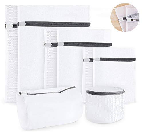 8 Stück Wäschenetz für Waschmaschine, Cubewit Wäschesack Wäschetasche Set Waschbeutel ideal für empfindliche Wäsche Waschmaschine, Trockner, BHs (feinmaschig & grobmaschig) mit Reißverschluss