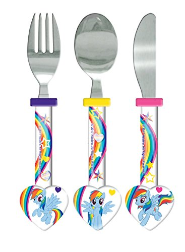 My little Pony Kinder Besteck-Set, 3-teilig (Einheitsgröße) (Bunt) (Löffel Pony)