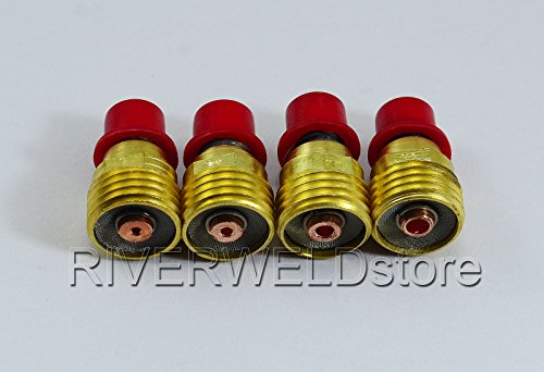 TIG Gas Lens Collet Corps Kit 45V43 45V44 45V45 Pour DB PTA SR WP 9 20 25 24 Torche de Soudage Tig 4pcs