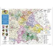 Bayern politisch: Wandkarte- Poster