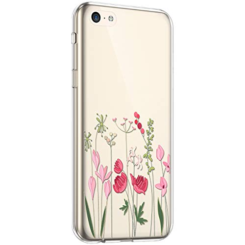 Surakey - Carcasa para iPhone 5C, diseño de flores, Flowers 15