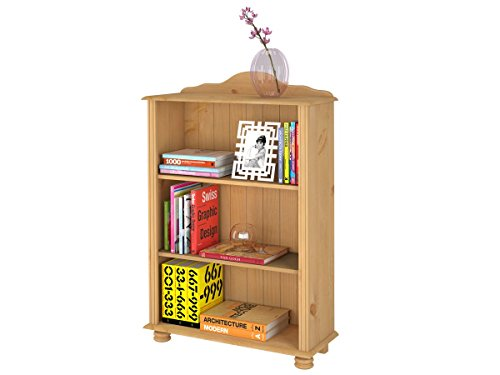 Loft24 JASMIN Bücherregal Regal Standregal Holzregal Ordner Aktenregal Landhaus Kiefer massiv 77 x...