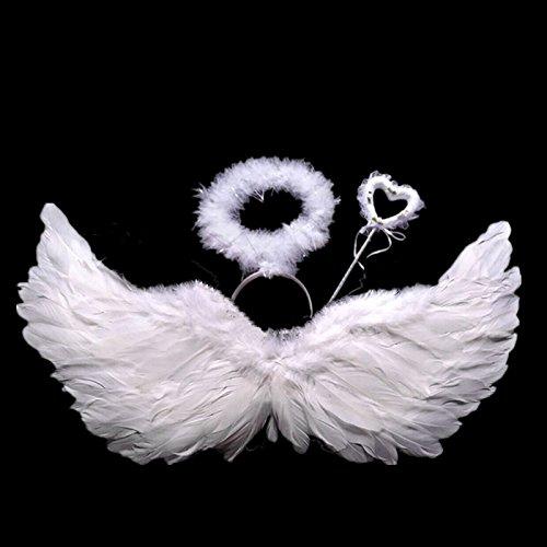 Friedhof Angel Kostüm - suxiaopei Angel Wings Requisiten Flügel Blumenmädchen
