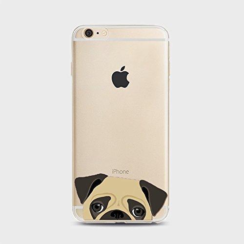 Coque iPhone 6 6s Housse étui-Case Transparent Liquid Crystal Chiens en TPU Silicone Clair,Protection Ultra Mince Premium,Coque Prime pour iPhone 6 6s-style 1 Chiens-3