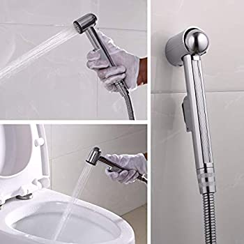 ZOTTI Hand Held Bidet Sprayer Shattaf Toilet Bidet Shower Head with 59-inch 1.5 metre Hose and Holder Hight Quality Automatic Muslim Shower