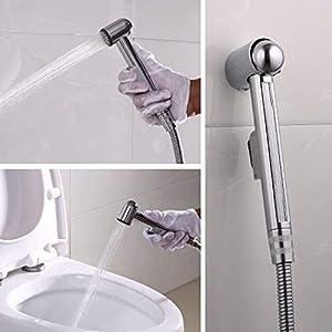 Handheld Bidet Pulverizador de inodoro Shattaf Lavado del paño Paño Limpieza Baño Inoxidable de acero ducha manguera con…