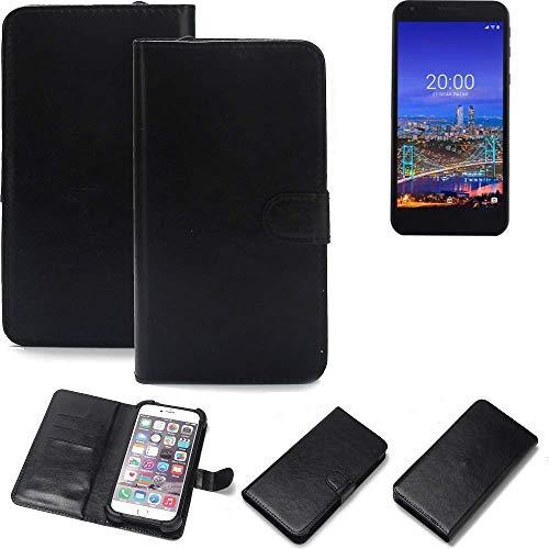 K-S-Trade Wallet Case Handyhülle Vestel 5530 Schutz Hülle Smartphone Flip Cover Flipstyle Tasche Schutzhülle Flipcover Slim Bumper schwarz, 1x