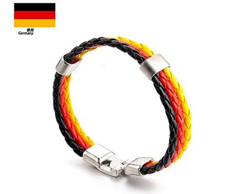 Hemore Armband Set Deutschland Fan Weltmeisterschaft 2018 WM Gewebt Armbänder -