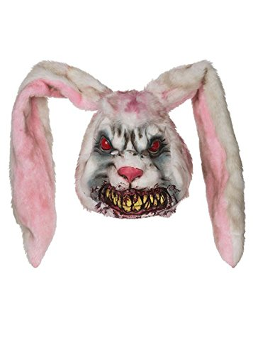 Kostüme Männer Bunny (Maske Halloween bösen Zombie Bunny)