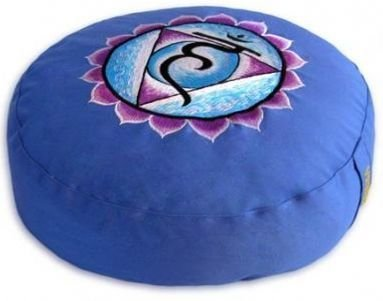 Meditationskissen Blau Kehlchakra