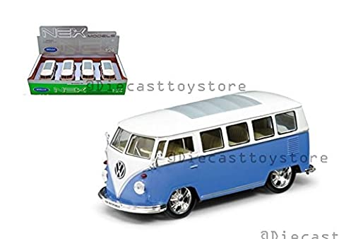 WELLY 1:24 DISPLAY 1962 VOLKSWAGEN BUS LOW RIDER 2PCS NO RETAIL BOX