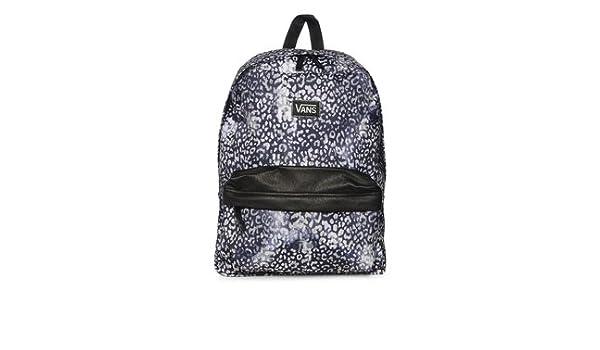 5ac00f7b3565b8 Vans G Deana II Leopard Print Black White Backpack Rucksack  Amazon.co.uk   Shoes   Bags