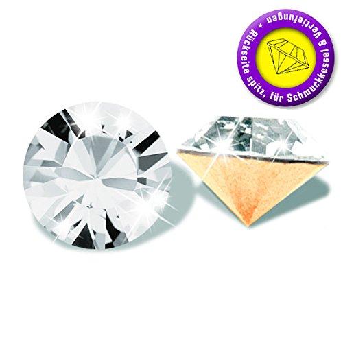 50 Stück SWAROVSKI ELEMENTS 1028 Chaton, Crystal, PP3 (Ø ca. 1,00 - 1,10 mm), Strasssteine zum Einkleben