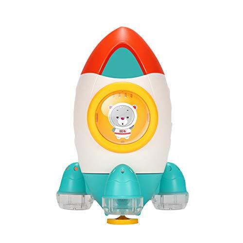 Bescita6 Baby Bad Spielzeuge Wanne Rakete Wasser Zeit Spaß für Kleinkinder Wasserspielzeug Rotierender Wasserspray am Strand Im Spielen Dusche Baden Shampoo Badezimmer Spielzeug