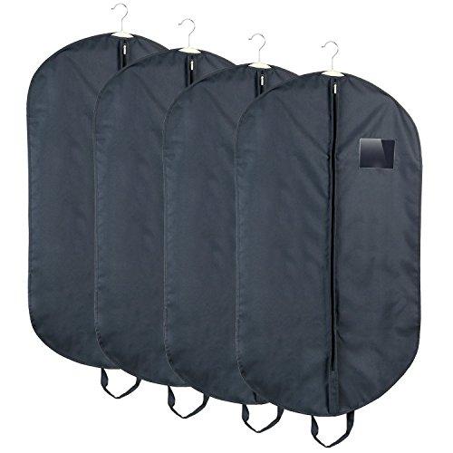 HOMFA 4 x Kleidersack atmungsaktive kleiderhülle Anzugtasche Anzugsack Kleiderschutzhülle mit...