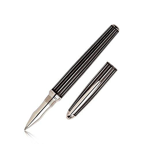 johnson-boswell-stylo-roller-plaqu-argent-noir
