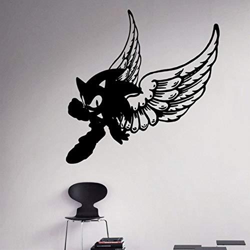 Cyalla Vinyl Aufkleber Sonic Wand Vinyl Aufkleber Videospiel Cartoons Home Interior Kinder Kinderzimmer Dekor 59 * 59 Cm