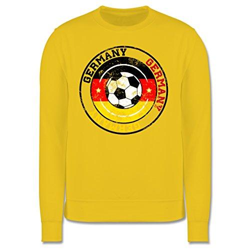 EM 2016 - Frankreich - Germany Kreis & Fußball Vintage - Herren Premium Pullover Gelb