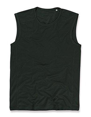stedman-herren-herren-bird-eye-sport-t-shirt-armellos-st8440-black-opal-xl