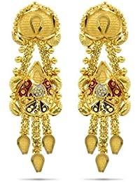Candere By Kalyan Jewellers 22k (916) Yellow Gold Jhumki Earrings for Women