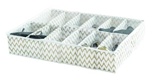 Compactor Home ran7518Funda para Zapatos, Polipropileno, Color Blanco/Beige 76x 60x 15cm