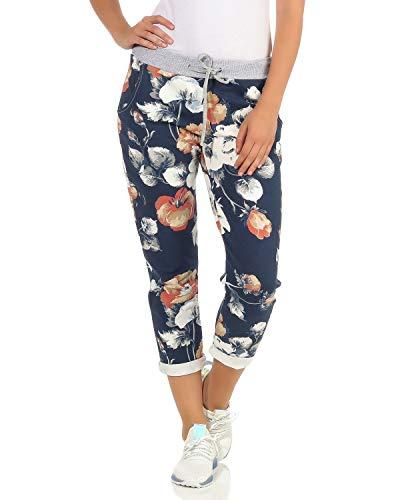 ZARMEXX Damen Sweatpants Baggy Boyfriend Sommerhose Sport All-Over Print One Size Muster 13 One Size (36-40) (39 Hinweise 13)