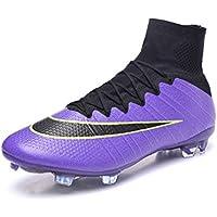 Generic Herren Mercurial superfly X 10 FG Hi Top Violett Fußball Schuhe Fußball Stiefel -