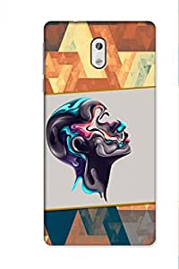 SRS Graffiti Pattern 3D Back Cover for Nokia 3