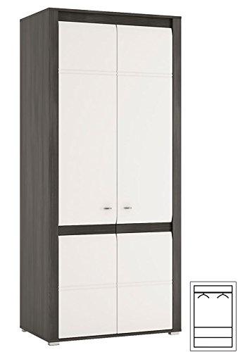 Wohnzimmer komplett 1662022 Wohnwand 4-teilig schwarzkiefer / weiß Hochglanz - 2