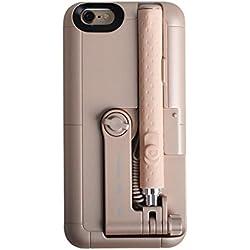 EsportsMJJ 2 In 1 Estensibile Monopiede Cablato Remoto Selfie Stick Custodia Per iPhone 6 6S-Oro