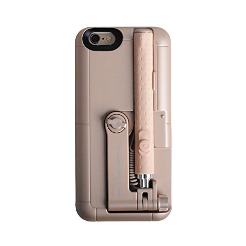 EsportsMJJ 2 In 1 Ausziehbare Einbeinstativ Wired Remote Selfie Stick Case Für iPhone 6 6 S-Gold Wired Remote
