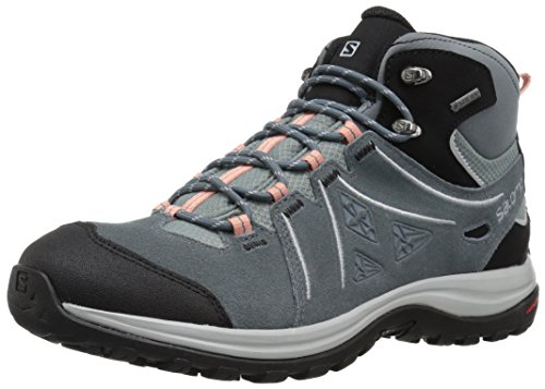 Salomon Damen Ellipse 2 GTX MID LTR W Hiking- und Multifunktionsschuhe, Synthetik/Textil, grau (lead/stormy weather/coral almond), Gr. 40 2/3