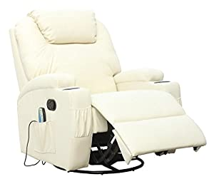 CINEMO 9 in 1 LEATHER RECLINER CHAIR ROCKING, MASSAGE, 360 SWIVEL, HEATED SEAT, ADJUSTABLE HEADREST, GAMING, NURSING, CINEMA
