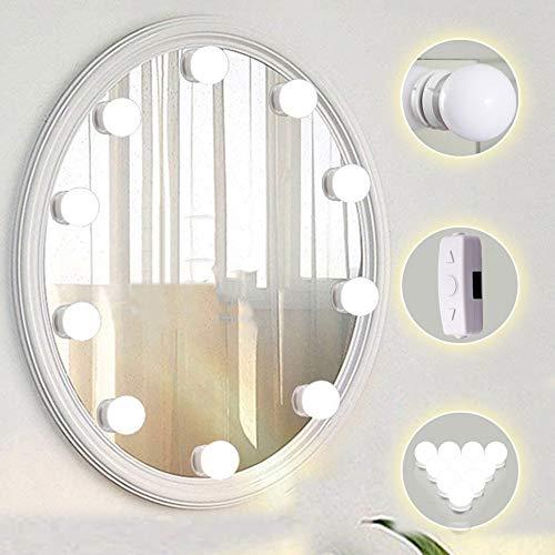 WLAY Lampe Für Make-up Lampe Für Make-Up Einfache Creative Vanity Mirror Kit Versteckte Kabel Dimmbare Lampen Fixture Strip Table Set Ankleidezimmer Badezimmer -