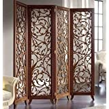 Craftatoz Wooden Partitions Wood Room Divider Partition For Living Room 4 Panels Room Dividers And Partitions Modern Room Separators Screen Panel