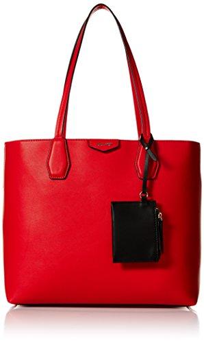 Nine West Damen Tote Caden Tasche, Fiery Red Black, Einheitsgröße -