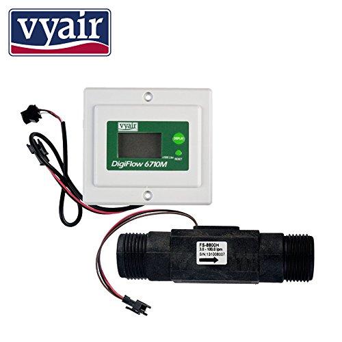 Zeit-panel (3.0 - 100L / Min Digital Panel Mounted-Durchflussmesser und Durchflussmenge mit 1
