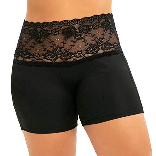 NARADLA Frauen Sicherheitsspitze Shorts Hohe Taille Nahtlose Slips Weiche Grundlegende Unterwäsche Patchwork Damen Unterhose -
