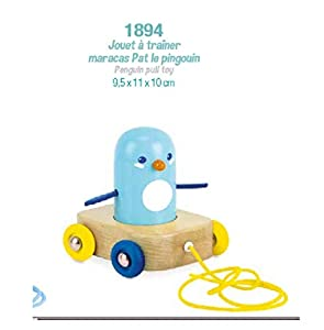 Vilac- Juguete de Entrenamiento Maracas Pat El Pingüino, 1894, Color Azul