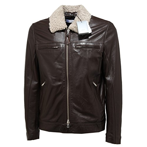 1306N giubbotto uomo DANIELE ALESSANDRINI marrone jacket coat men [48]