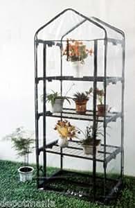 Serre de jardin ou balcon 4 étagères avec bâche PVC transparente
