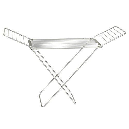 iDesign 39756EU Brezio Ausziehbarer Wäscheständer aus Aluminium für Wirtschaftsküche, 173,36 x 55,25 x 113,67 cm, silberfarben/poliert/grau, rustproof aluminum