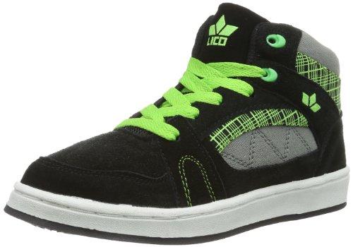 Lico Cliff High 530293 Jungen Skateboardschuhe Schwarz (schwarz/grün)
