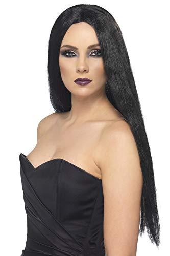Smiffy's Smiffys Halloween Peluca de bruja, Negra, 61cm de largo Color, Tamaño único 25880