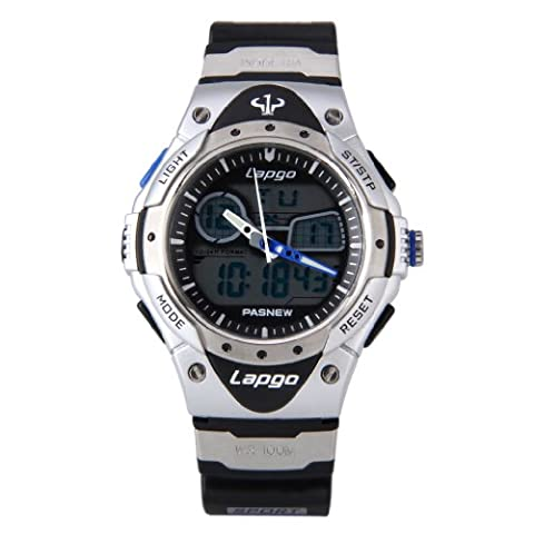 Pasnew 100 Meters Waterproof Sports Watch Student's Watche Swimming Watch Snorkeling Watch Gift Watch for Boys and Girls, Sliver