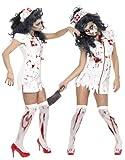 thematys Orrore Raccapricciante Infermiera - Set di Costumi per Signore - Perfetto per Halloween e Carnevale - 3 Taglie Diverse (M)