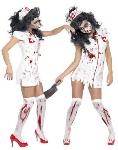 thematys Gruselige Horror Krankenschwester - Kostüm-Set für Damen - perfekt für Halloween, Fasching & Karneval - 3 Verschiedene Größen (XL)