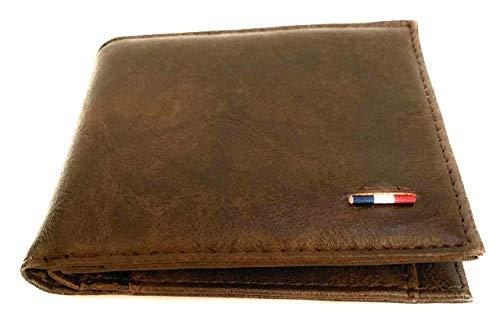 Biltt Cartera para hombre en color marrón oscuro de tamaño ideal, muy versátil y fácil de limpiar. Diseño original.